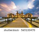 historical  antique wooden pier ...