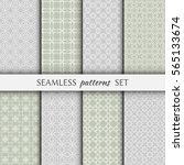 set of 8 seamless geometric... | Shutterstock .eps vector #565133674