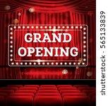 grand opening. open red... | Shutterstock . vector #565133839