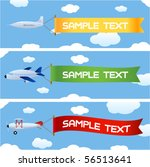 planes with message | Shutterstock .eps vector #56513641