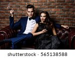 beautiful gorgeous couple in... | Shutterstock . vector #565138588