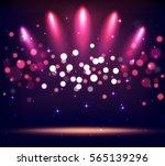 illuminated stand stage scene... | Shutterstock .eps vector #565139296