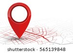 gps.navigator pin checking red... | Shutterstock .eps vector #565139848
