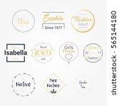 feminine fashion logos badge... | Shutterstock .eps vector #565144180