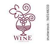 wine logo templates. bottle ... | Shutterstock .eps vector #565148233