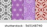 set of modern decorative floral ...   Shutterstock .eps vector #565148740