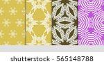 set of floral geometric lace... | Shutterstock .eps vector #565148788
