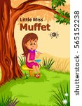 little miss muffet  kids... | Shutterstock .eps vector #565152238