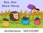 baa baa black sheep  kids... | Shutterstock .eps vector #565152289
