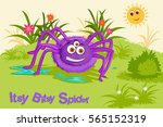 itsy bitsy spider  kids english ... | Shutterstock .eps vector #565152319