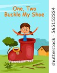 one two buckle my shoe  kids... | Shutterstock .eps vector #565152334
