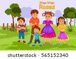 ringa ringa roses  kids english ... | Shutterstock .eps vector #565152340