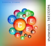 essential vitamin complex.... | Shutterstock .eps vector #565153396