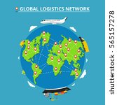 global logistics network. set... | Shutterstock .eps vector #565157278