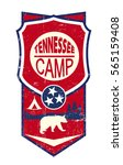 tennessee camp vintage label. a ... | Shutterstock .eps vector #565159408