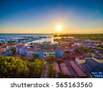 sunset over marina casa de campo | Shutterstock . vector #565163560