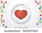 heart bubble icon vector... | Shutterstock .eps vector #565167424