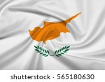 cyprus flag with fabric texture.... | Shutterstock . vector #565180630