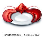Lobster Plate Dinner On A Whit...