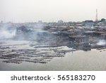 slums in lagos nigeria | Shutterstock . vector #565183270