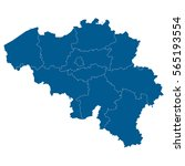 blue map of belgium | Shutterstock .eps vector #565193554