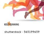 running people set of... | Shutterstock .eps vector #565199659