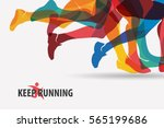 running people set of... | Shutterstock .eps vector #565199686