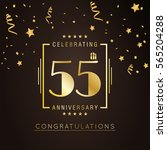 55th anniversary logo with... | Shutterstock .eps vector #565204288