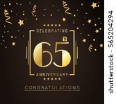 65th anniversary logo with... | Shutterstock .eps vector #565204294