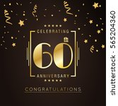 60th anniversary logo with... | Shutterstock .eps vector #565204360