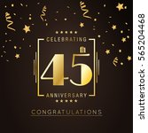45th anniversary logo with... | Shutterstock .eps vector #565204468