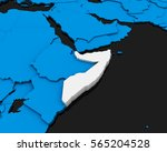 somalia map 3d illustration | Shutterstock . vector #565204528