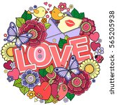 vector greeting card for lovers ... | Shutterstock .eps vector #565205938