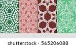 set of seamless vector patterns.... | Shutterstock .eps vector #565206088