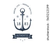 vintage nautical labels  icons... | Shutterstock . vector #565212199