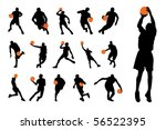 basketball player silhouettes | Shutterstock .eps vector #56522395