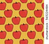 seamless simple vector pattern... | Shutterstock .eps vector #565224484
