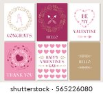 set of greeting cards.... | Shutterstock .eps vector #565226080