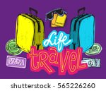 doodle hand drawn travel... | Shutterstock .eps vector #565226260