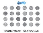hand drawn scribble set pattern ... | Shutterstock .eps vector #565229068