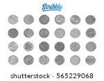 hand drawn scribble set pattern ... | Shutterstock .eps vector #565229068