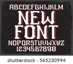 decorative vintage font on the... | Shutterstock .eps vector #565230994