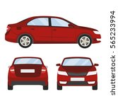 car vector template on white... | Shutterstock .eps vector #565233994