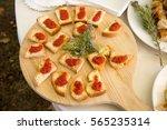 italian appetizer bruschetta | Shutterstock . vector #565235314