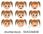 face expressions of a funny... | Shutterstock . vector #565236838