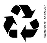 vector recycle symbol | Shutterstock .eps vector #56523907