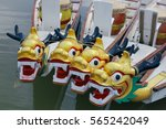 dragon head on dragon boat. | Shutterstock . vector #565242049