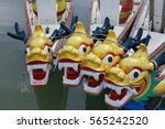 dragon head on dragon boat. | Shutterstock . vector #565242520