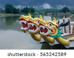 dragon head on the dragon boat. | Shutterstock . vector #565242589
