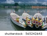 dragon boat on the water. | Shutterstock . vector #565242643